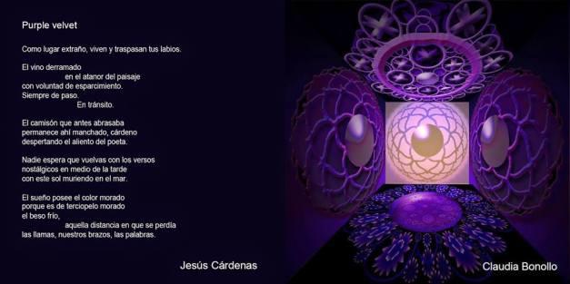 espacio sináptico violeta (serie ESPACIOS SENSIBLES, Claudia Bonollo