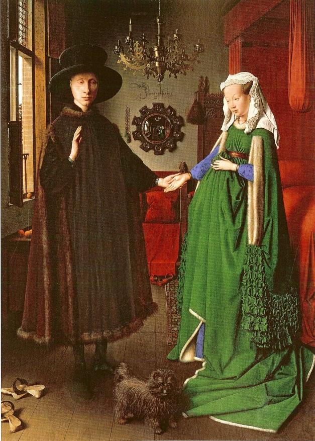 Ritratto dei coniugi  Arnolfini, Jan van Eyck 1434-35